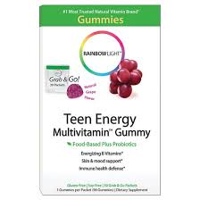 Rainbow Light Vitamins Rainbow Light Teen Energy Multivitamin Gummies Grape 30pk Target