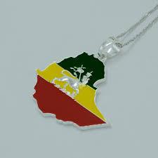 Lion Flag Ethiopian Flag U0026 Lion Pendant Necklace U2013 Teasdales