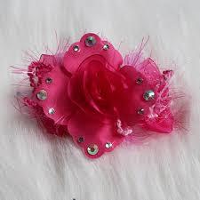 designer hair accessories hot pink swarovski flower designer dog hair clip headband