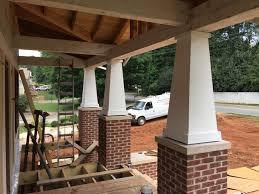 june week 5 hardwoods doors trim columns metal roof and