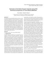 estimation of cavitation erosion intensity using cfd numerical