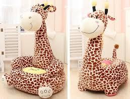 plush animal bean bag chair for children giraffe monkey and more