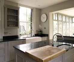 lovely monochromatic european kitchen design with gray kitchen