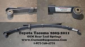 toyota tacoma prerunner 2wd 4wd 2005 2014 rear leaf springs oem 90