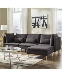 L Shaped Sectional Sofa With Chaise Big Deal On Malina Modular Fabric L Shaped Chaise Sectional Sofa