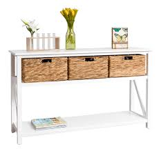 furniture minimalist looks console table with drawers