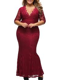 plus size evening lace gown princess seams wrap tops wine red
