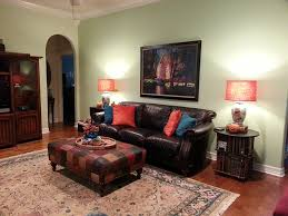 accent color for brown couches mantel painting colors pictures