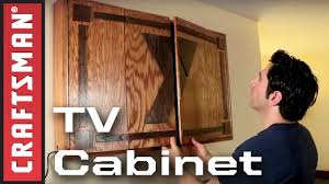 how to build a tv cabinet craftsman youtube
