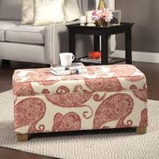 cosmopolitan medium rectangular storage ottoman black 170
