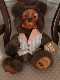 wooden faced teddy bears robert raikes applause teddy plush stuffed animal wooden