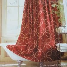 Rust Color Curtains Absolutely Ideas Rust Shower Curtain Colored Curtains