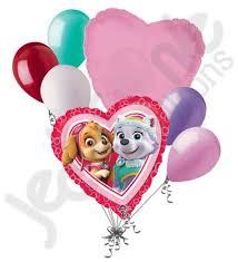 heart balloon bouquet paw patrol girl heart balloon bouquet jeckaroonie balloons