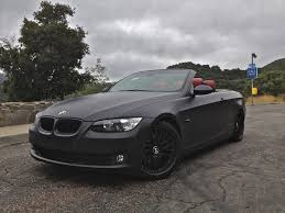 matte red bmw 2008 e93 bmw 328i 70k miles hard top convertible matte charcoal on red