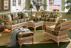 Living Room Wicker Furniture Islander Set Made With Rattan And Banana Bark Rope