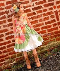 childrens fall boutique clothes long sleeve floral dress matching