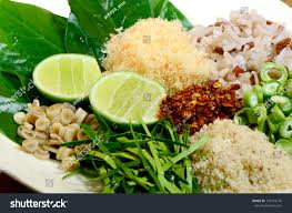 cuisine le gal cuisine khao yam southern style stock photo 100