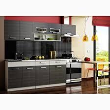 cuisine equipee justyou moreno cuisine équipée complète couleur noir aluminium