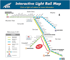 Sacramento Light Rail Schedule San Jose Light Rail Map Schedule