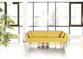 canape jaune cuir cuir jaune