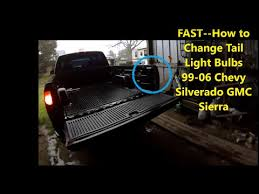 2001 silverado tail lights fast how to change truck tail light bulbs 99 06 2001 chevy