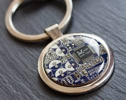 unique keychain circuit board keychain keychain for men gift for him cool
