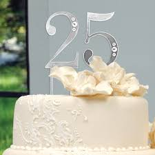 25th anniversary cake toppers 25 wedding anniversary cake topper picture simple decoration 25th