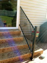 Installing A Banister Adding A Railing To Patio Steps Building Dreams