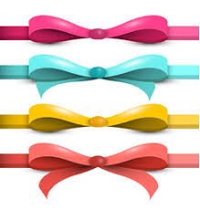 bows and ribbons set of bright purple pink blue gift ribbon bows vector image