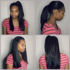 black hair weave part in the middle flawless verstile middle part sew in on short natural hair