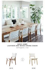 Woven Dining Chair Home Wood And Leather Dining Chair Copy Cat Chic Copy