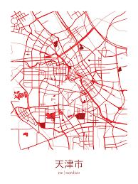 Tianjin China Map Tianjin China Map Print Urban Design Pinterest Best Tianjin