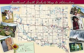 Map Of South United States by Large Tourist Map Of South Dakota State South Dakota State Usa