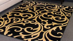 Modern Black Rugs Modern Black And Gold Area Rug Home Rugs Ideas For Thedailygraff