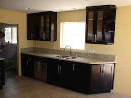 Dark Wood Kitchen Cabinets With Glass Kitchen How To Glaze Kitchen Cabinets Distressed Kitchen