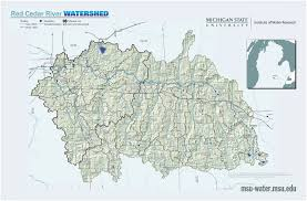 Howell Michigan Map by Map Gallery Michigan State University Red Cedar River Watershed