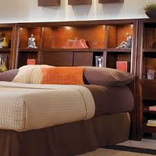 queen headboard with storage and lights crafty inspiration ideas bookcase headboard with lights shelves king
