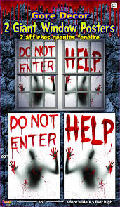 bloody window posters 2 pack halloween decoration costumes com au