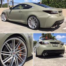 lexus usa rc army green rc f is our kind of lexus