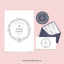 wedding invitations freepik vintage wedding invitation with envelope and label vector free