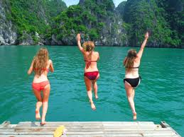 swimming in halong bay vietnam travel guide