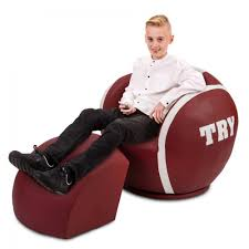 Football Swivel Chair by Big Kids Rugby Chair Sport Theme Games Chair Armchair Childrens