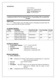 nice software engineer resume format latest resume format