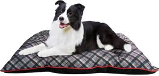 american kennel club tufted pillow plaid dog bed gray chewy com