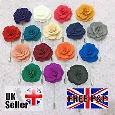 lapel flower new mens womens silk button lapel flower pin boutonniere