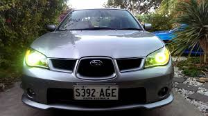 impreza subaru 2006 2006 eagle eye subaru impreza custom headlights rgb angel eyes