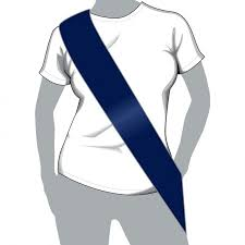 blank sashes 5 x 100mm navy blue plain sashes blank sashes