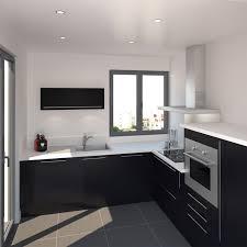 cuisine et blanc photos cuisine porte effet touch ginko noir mat decoration