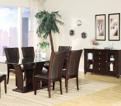 Espresso Dining Room Furniture by Homelegance Daisy Rectangular Glass Top Dining Table Beyond Stores