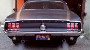 Black Classic Mustang 1968 Mustang Fastback Matte Black Youtube